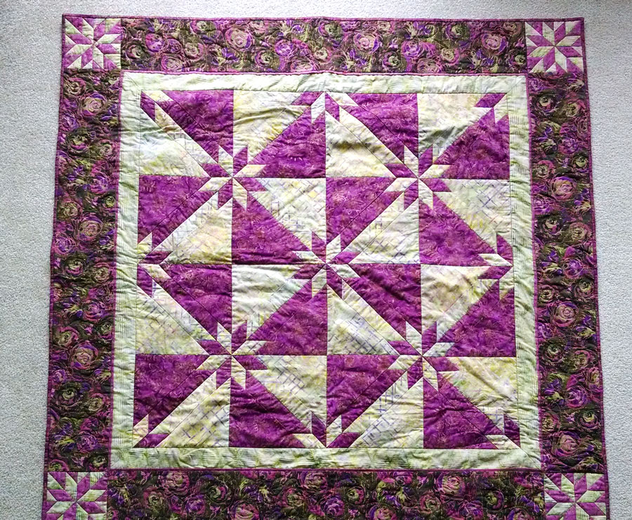Starlight Reflection - Finished Quilt