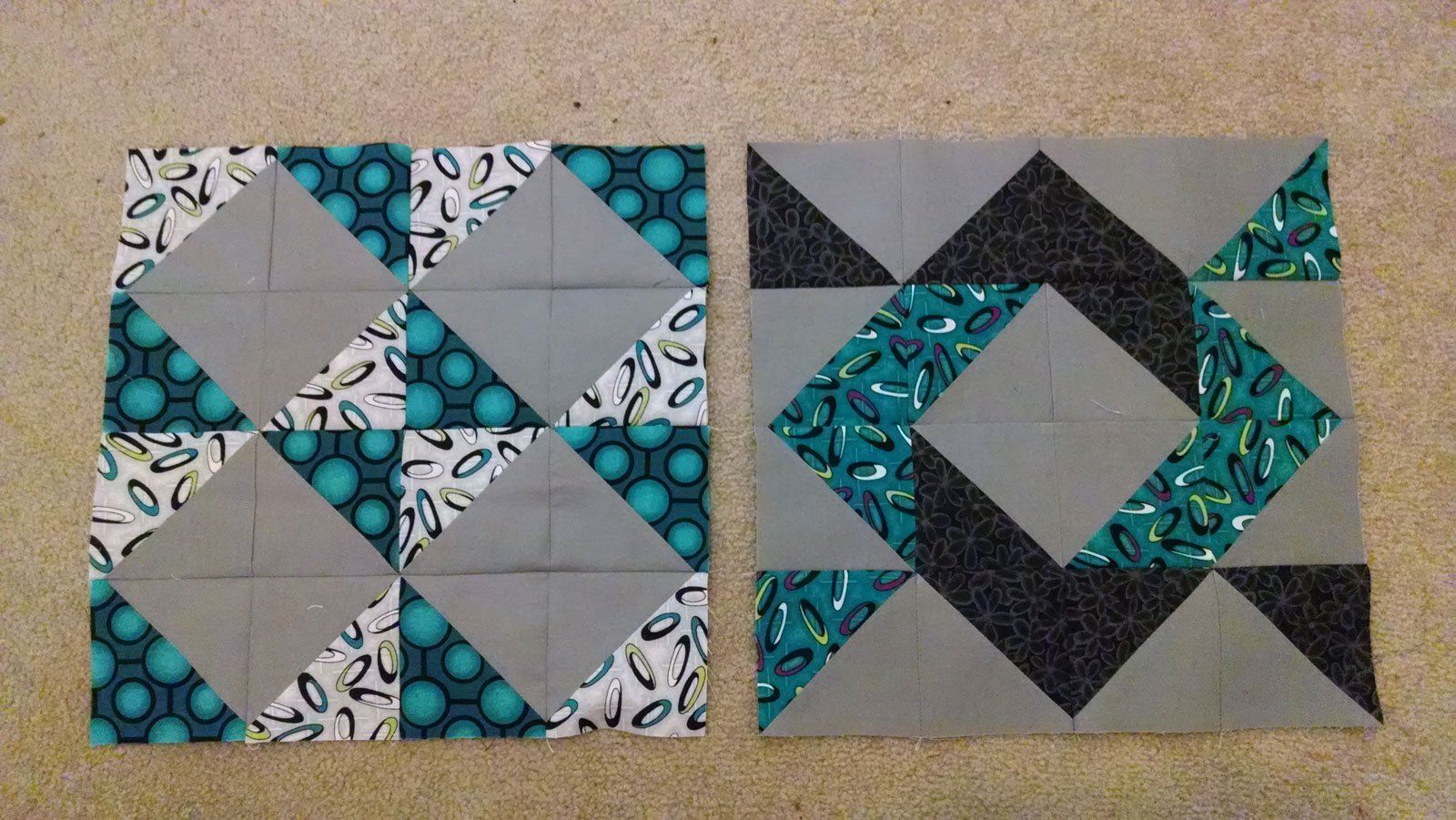 Layer Cake Sampler Quilt Along - Blocks 9 (right) & 10 (left)