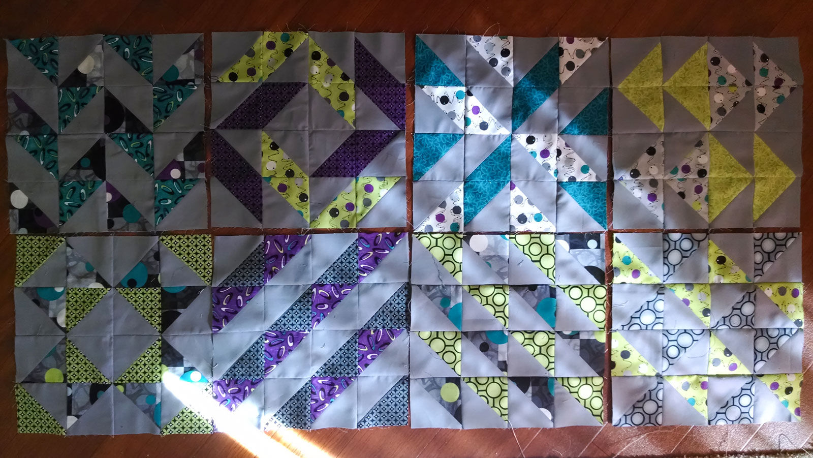 Layer Cake Sampler QAL - Blocks 1 - 8