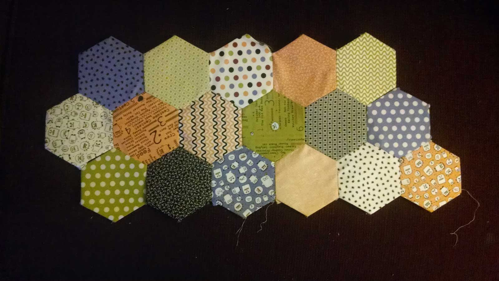 17 completed hexigons