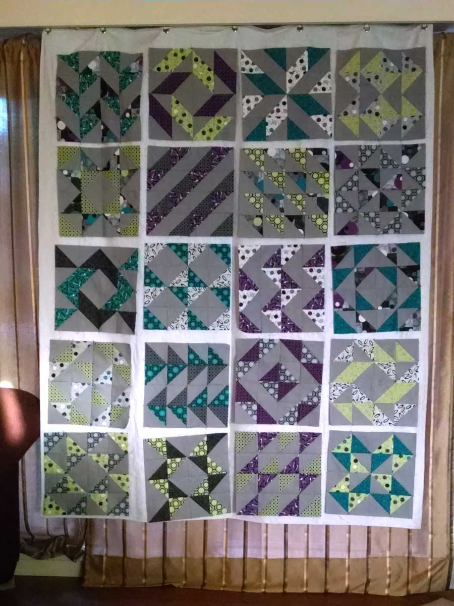 Layer Cake Sampler QAL - Blocks 1 - 20