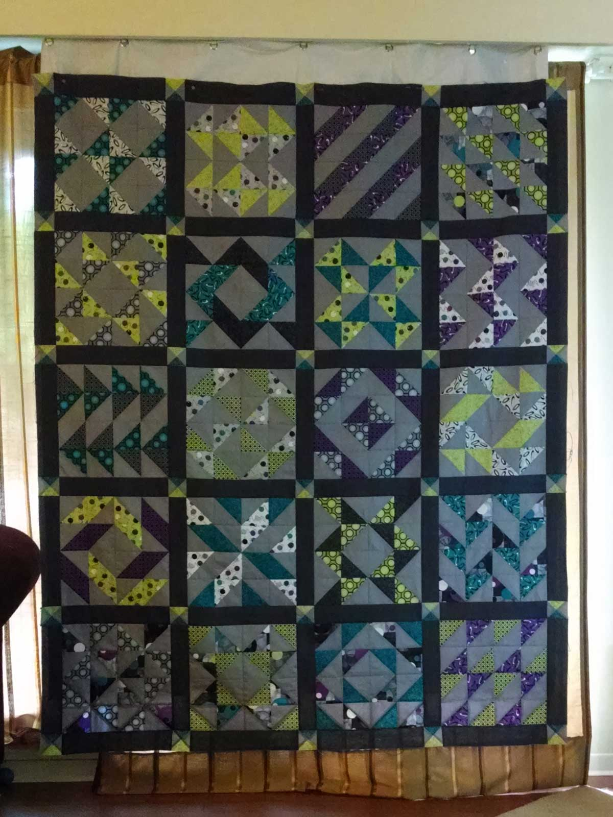 Layer Cake Sampler QAL - Quilt Top with Sashing
