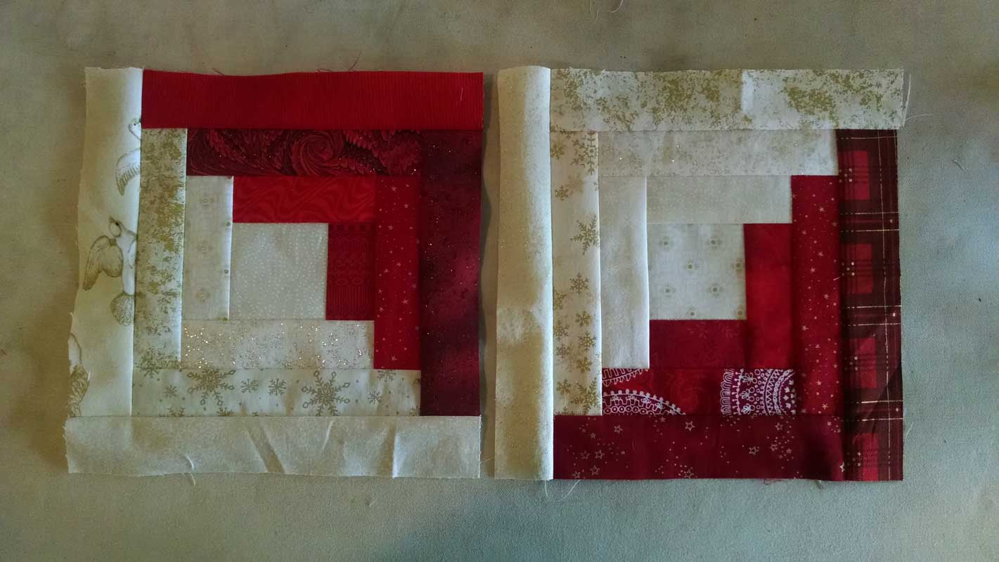 Christmas Quilt Log Cabins
