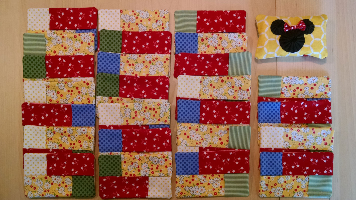Tissue covers - Sewing complete now for the Applique!