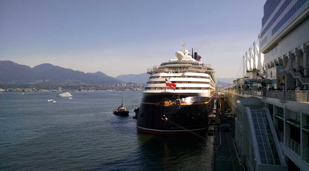 Disney Wonder cruise ship at the Port of Vancouver