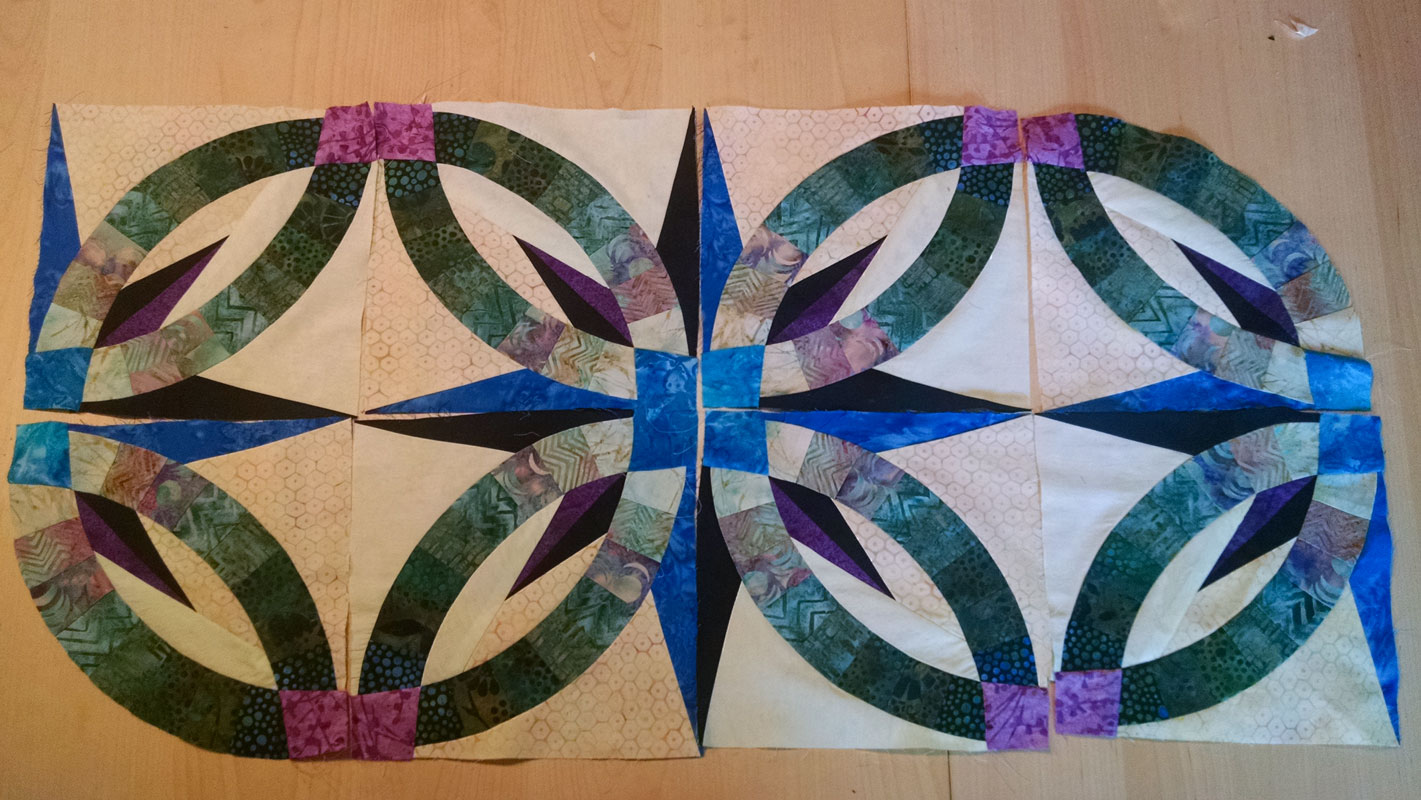 Bali Wedding Star Blocks - Oso Quilt Project